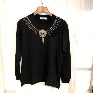 Skull Neck ロングスリーブTシャツ(抜染)