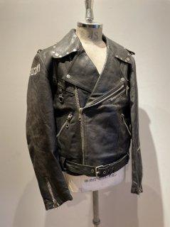 80's MEDE IN Sweden JOFAMA Studs double riders jacket DESTRUC-JACKET SUZUKI Paint