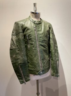 70~80's  Green Leather Jacket MONZA Type