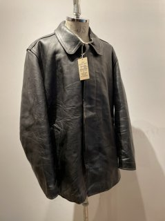 60's French VTN leather coat