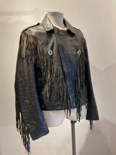 80's Verducci Fringe Riders Leather Jacket