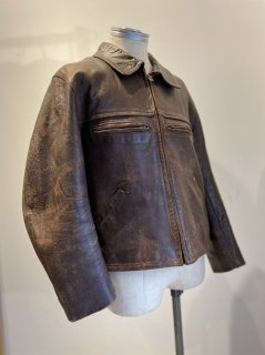 40's French Leather Sport Jacket