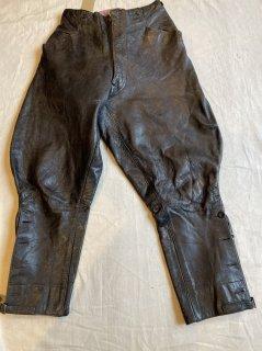 40's ENGLAND Leather motorcycle pants