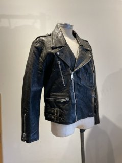 80's Back side belt Double riders jacket