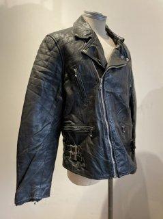 80's Back side belt Padded Double riders jacket
