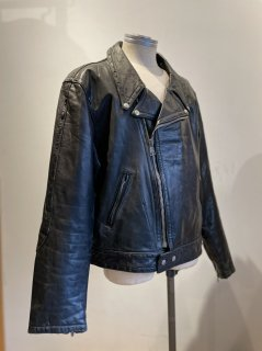 80's Piping Flap band Double riders jacket