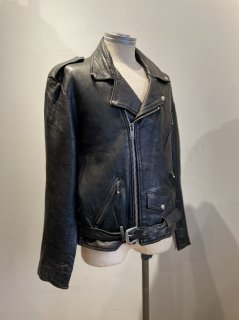 70's REAL LEATHER Double riders jacket