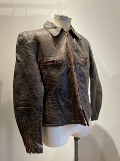 German Piping Single Leather Jacket