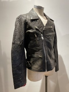 70's Double Riders Leather Jacket LIGHTNING Type
