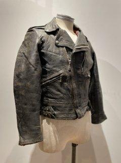 70's Back side belt Double Riders Leather Jacket
