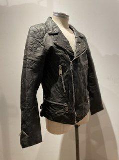 80's Double Riders Leather Jacket LIGHTNING Type