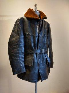 40's Horsehide Car Coat Jacket
