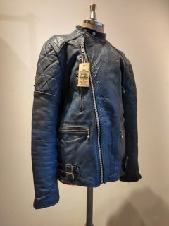 80's Blue Leather riders jacket MONZA Type