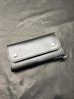 NEON Leather Garment Tracker  Wallet  (Black)