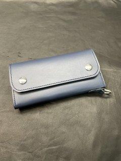 NEON Leather Garment Tracker  Wallet  (Navy)