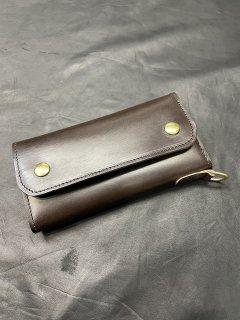NEON Leather Garment Tracker  Wallet  (Brown)