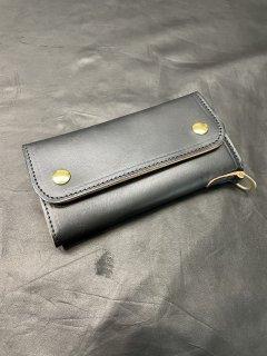 NEON Leather Garment Tracker  Wallet  (Black oil)