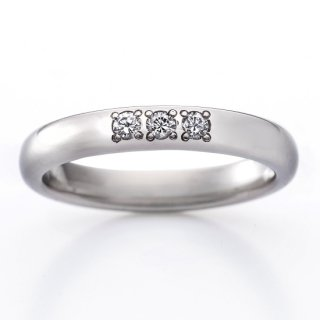 ロイヤルマリッジリング(RME300FTR)チタン結婚指輪 ダイヤ0.09ct 女性用リング