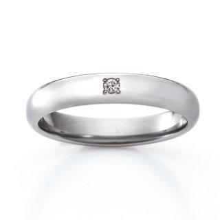 ロイヤルマリッジリング(RMA100FTR)チタン結婚指輪 ダイヤ0.03ct 男性用リング