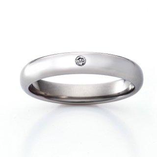 ロイヤルマリッジリング(RMA100DTR)チタン結婚指輪 ダイヤ0.03ct 男性用リング