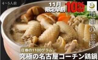 名古屋コーチン鶏鍋セット  日本3大地鶏 究極の手羽先鶏鍋 4〜5人前