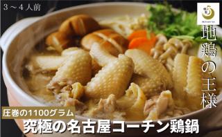 名古屋コーチン鶏鍋セット超お得  日本3大地鶏 究極の鶏鍋 3〜4人前