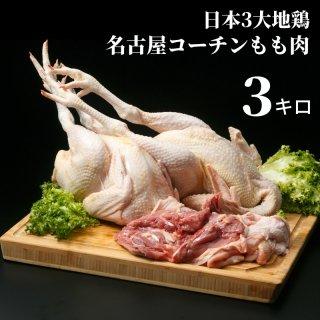 日本3大地鶏 名古屋コーチンもも肉3キロ 冷蔵・冷凍選べます