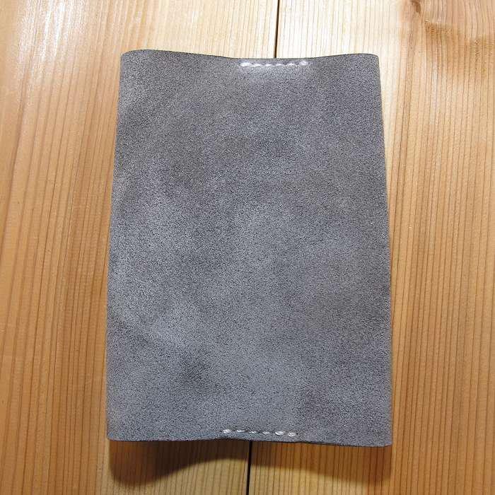 ブックカバー ベロア グレー 文庫本サイズ