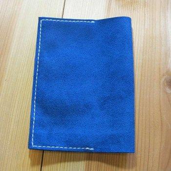 ブックカバー ベロア ブルー 文庫本サイズ