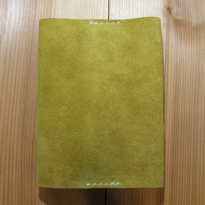 ブックカバー ベロア イエロー 文庫本サイズ