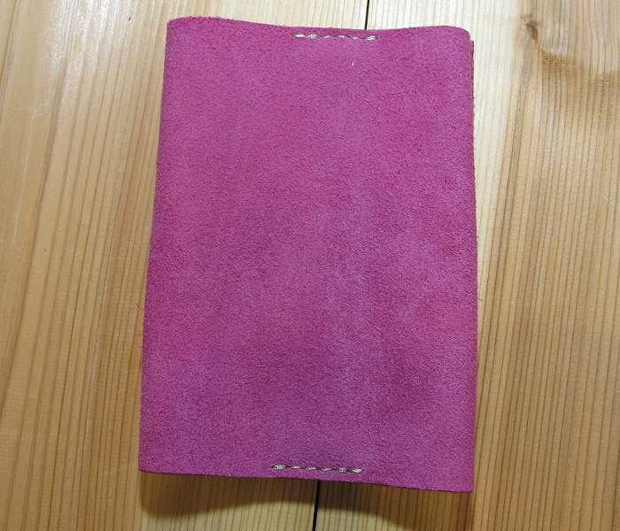 ブックカバー ベロア ピンク 文庫本サイズ