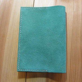 ブックカバー ベロア エメラルドグリーン 文庫本サイズ