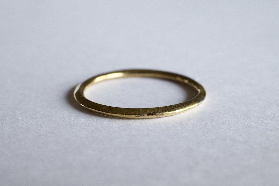 真鍮の角張った指輪 / 1.5mm