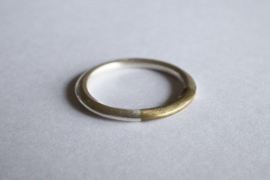 銀と真鍮の指輪 / 1.8mm