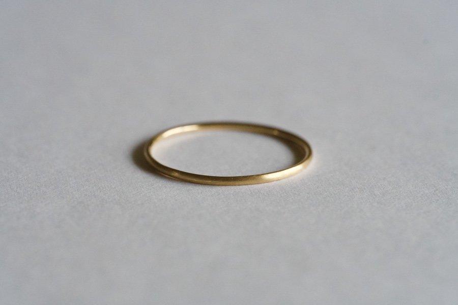 (新)無垢の18金の指輪  / 1.0mm