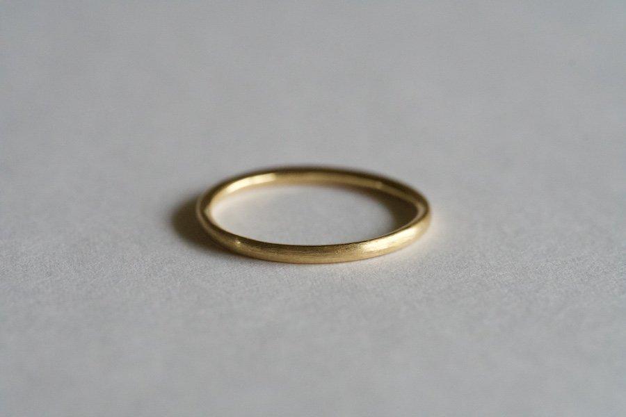 (新)無垢の18金の指輪  / 1.5mm