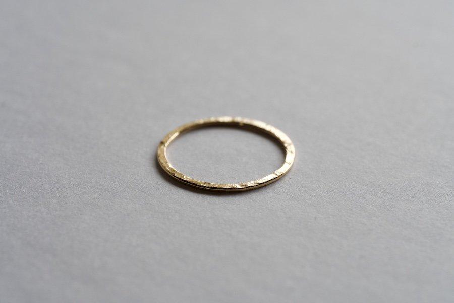 無垢の18金の指輪  / 0.7mm