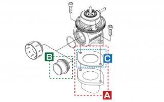 ブローオフバルブFV用 取付ホルダー(アルミ)