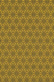[108]印傅風和紙  印傳麻の葉くずし黄