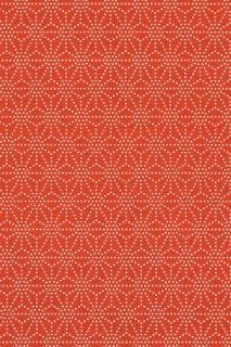 [109] 印傅風和紙 印傳麻の葉くずし赤