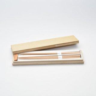 三角箸 桐箱ギフトセット 箸置き付 ブナ