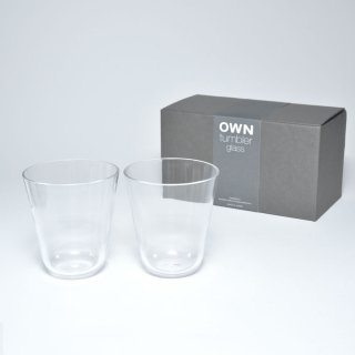 OWN glass tumbler / ギフトセット 2個入