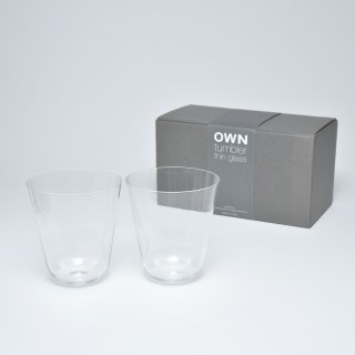 OWN thin glass tumbler / ギフトセット 2個入