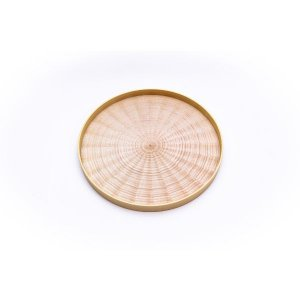 Round Rays Tray white sycamore / 森工芸