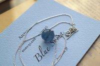 Blue Soma エナジャイズド・ブルーフローライトsilverペンダント(45cmアジャスター付)