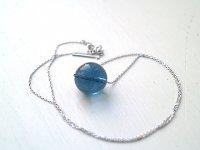 Blue Soma ™ エナジャイズド ペンダント大玉&チェーン silver925(1番)