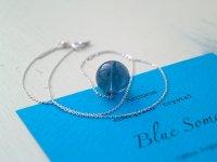 Blue Soma ™ エナジャイズド ペンダント大玉&チェーン silver925(3番)