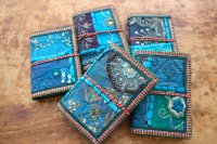 インド・ラジャスタン刺繍古布 青いノート