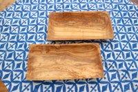 オリーブウッド(チュニジア) 20 x 10cm 長方形トレイ