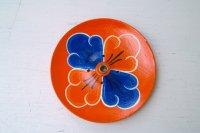 チベット香用(インド香兼用)お香たて木製・オレンジ(花)